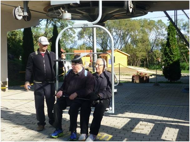 Pentti Kortelainen és Rauno Talvensaari a libegőn